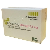CONVERIDE TABL. FILM. COAT. 300MG/12.5MG X30 22,32 лв. от Apteka.puls.bg