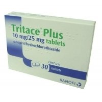 TRITACE PLUS TABL 10MG/25MG X30 16,20 лв. от Apteka.puls.bg